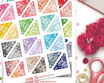 Rent Due Corner Watercolor Planner Stickers   Erin Condren   Kikki K   Filofax   Life Planners   Happy Planner