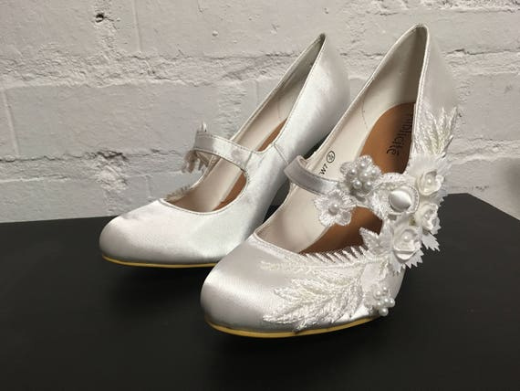 Mary Scarlet Shoes Jane Wedding Bridal x4wCnpqRg