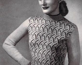 Vintage Knitting Pattern - Fair Isle