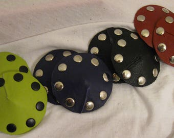 Studded Leather Pasties in Multiple Colors
