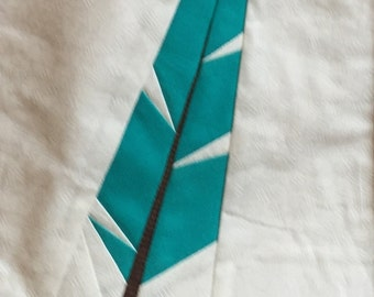 Paper pieced Feather Block Pattern