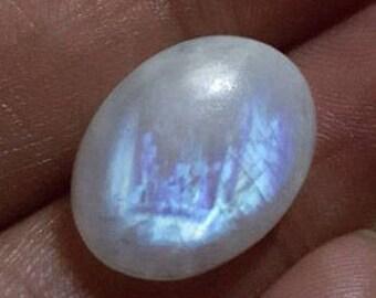 Rainbow moonstone natural plain oval shape cabochon  -13mm x 17mm x 6mm -STK-33-WRL-01