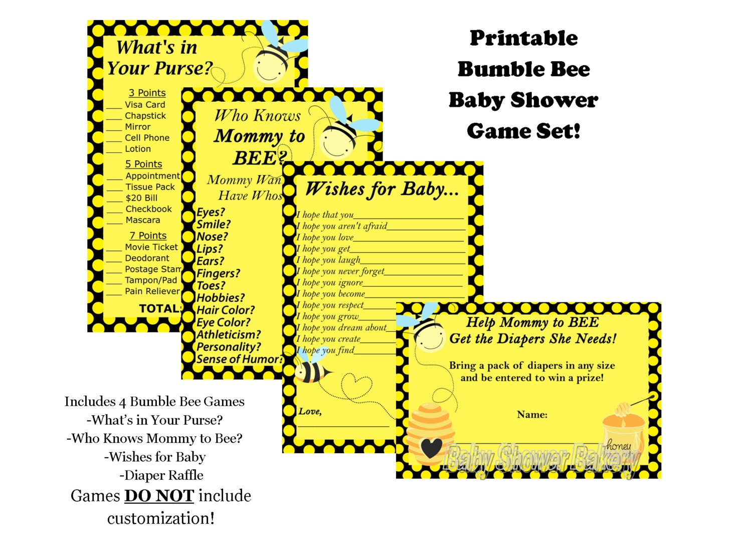 Mommy To Bee Baby Shower Game Pack Bumble Theme Zoom Ptc Cofo Images