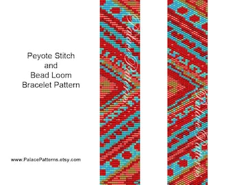 KIT for Chevron Bracelet Bead Loom or Peyote Pattern - chevron5 - Chevron Bracelet Kit P27 - Pattern and Beads Included