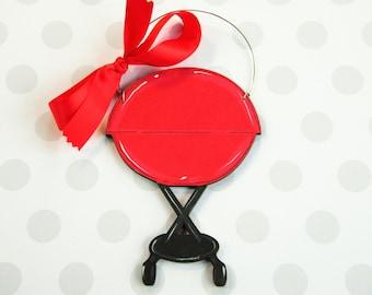 Grill Ornament, Dad Ornament, Cook Ornament, Chef Ornament, personalized ornament, painted ornament, wood ornament, Christmas Ornament