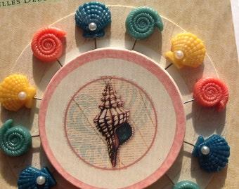 Decorative Pins from K&Company 12pcs // Seashell