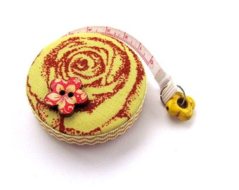 Tape Measure Yellow Flowers Retractable Measuring Tape
