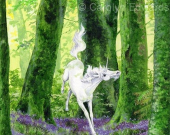 UNICORN - Beautiful Glossy A4 Art Print (29.7 x 21cm)