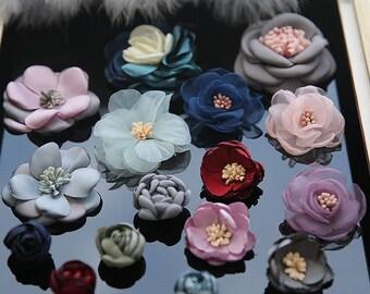 Silk flower patch etsy fabric silk flower applique flower cloth stickers diy jacket decorative party cloth patch hair bag accessory supply mightylinksfo