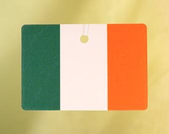 Irish Flag Car Air Freshener, Horizontal