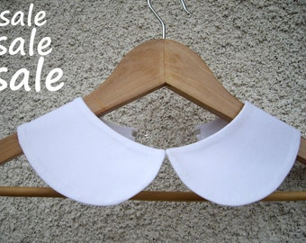 Peter Pan collar, Hand Made vintage collar, Cotton Removable Collar , Peter Pan Detachable White Collar