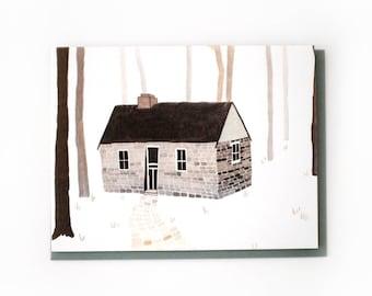 Stone Cabin Card