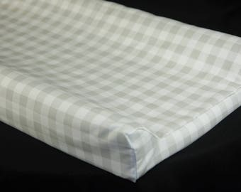 Standard Changing Pad Cover / IKEA Vadra Change Pad - French Gray Plaid
