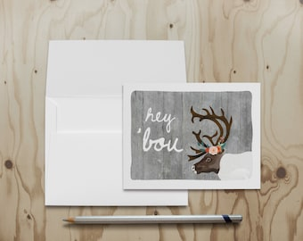 Hey 'Bou Note Card