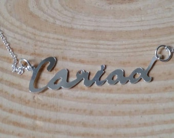 Sterling Silver Cariad Necklace