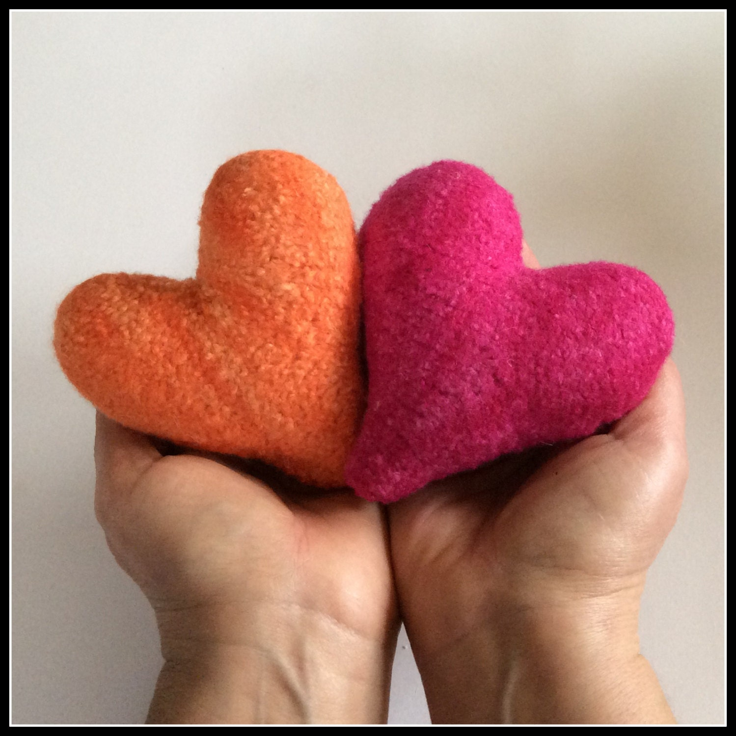 Felted Hearts Knitting Pattern from AbsoluteKnits on Etsy Studio