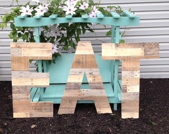 """30"""" Untrimmed Reclaimed Wood Letters   Wood Pallet Letters   Large Wooden Letters   Rustic Wood Letters   Farmhouse Decor   Home & Living"""