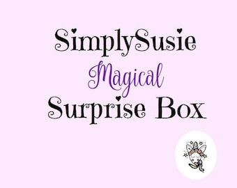 Magical lucky dip box, unicorn surprise box, snail mail mystery box, happy mail gift box, stationary box, Christmas gift, stocking filler