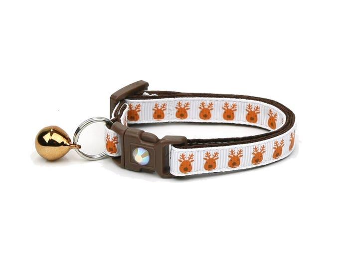 Christmas Cat Collar - Santa's Reindeer Crew - Small Cat / Kitten Size or Large(standard) Size Collar