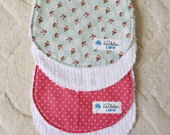 Vintage Burp Cloth , Floral Burp Cloth , Baby Burp Cloth , Baby Shower Gift , Baby Girl Gift , New Mom Gift , Pink baby Gift , Baby Gift
