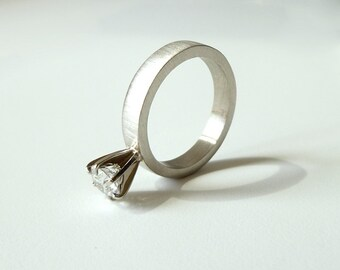"""Diamond solitaire engagement ring, """"Say Yes"""""""