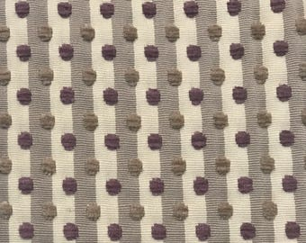 Purple - Gray - Taupe - Upholstery Fabric  By The Yard