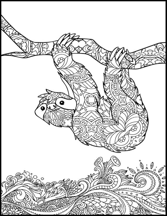 Printable coloring page adult coloring page animal