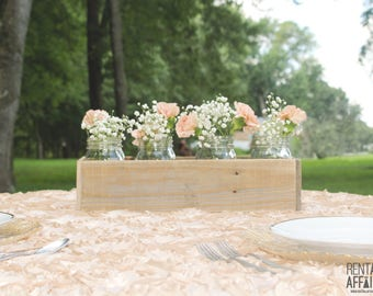 Reclaimed Wood Box Centerpiece