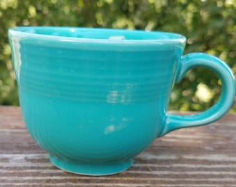 Fiestaware turquoise cup