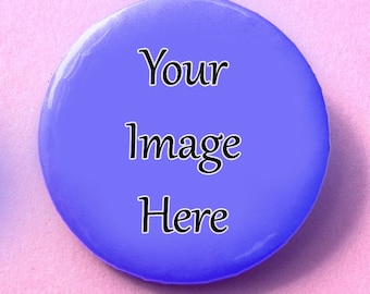 50 Custom Round 1.25 inch Pin-back Buttons, Design Your Own, Personalized buttons, Customized buttons, Logo buttons, Band merch