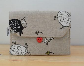 Sheep pouch,Sheep wallet, Sheep coin purse, Sheep bag, Sheep canvas, Sheep fabric, fabric pouch, canvas pouch, canvas bag, canvas Sheep
