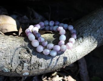 FREE SHIPPING Pink Tourmaline bead bracelet