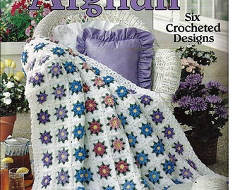 Just The Right Afghan To Crochet Pattern Book Leisure Arts 2096