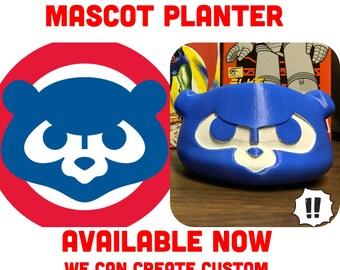 Chicago Cubs, planter, chicago cubs decor, chicago cubs logo, Chicago, chicago cub, Dad's gift, man gift, fans art