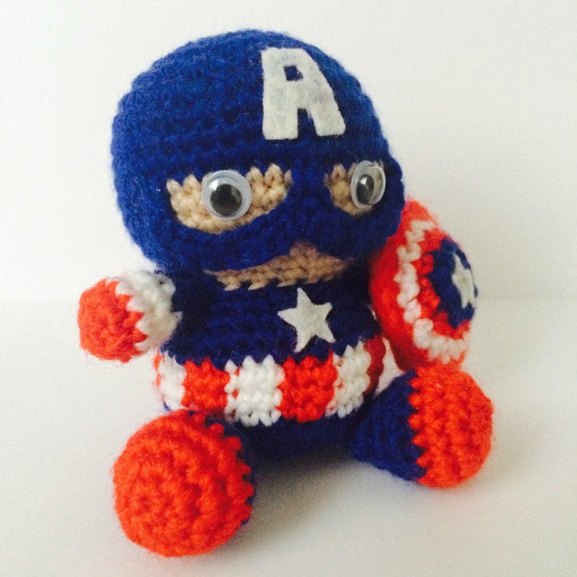 Captain AMERICA Muster Amigurumi Superhelden Rächer Schild