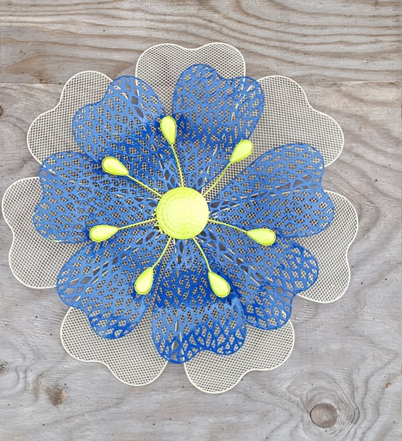 & Metal wall Flower Wall Art Fence Flowers Wire Flower wall