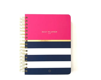 2018 Anchored Press Daily Devotional Planner - Nautical Pink