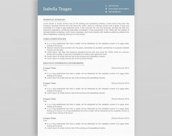 Professional Resume Template   3 Page Resume Template   Resume Template Word   Minimalist Resume Template   Creative Resume
