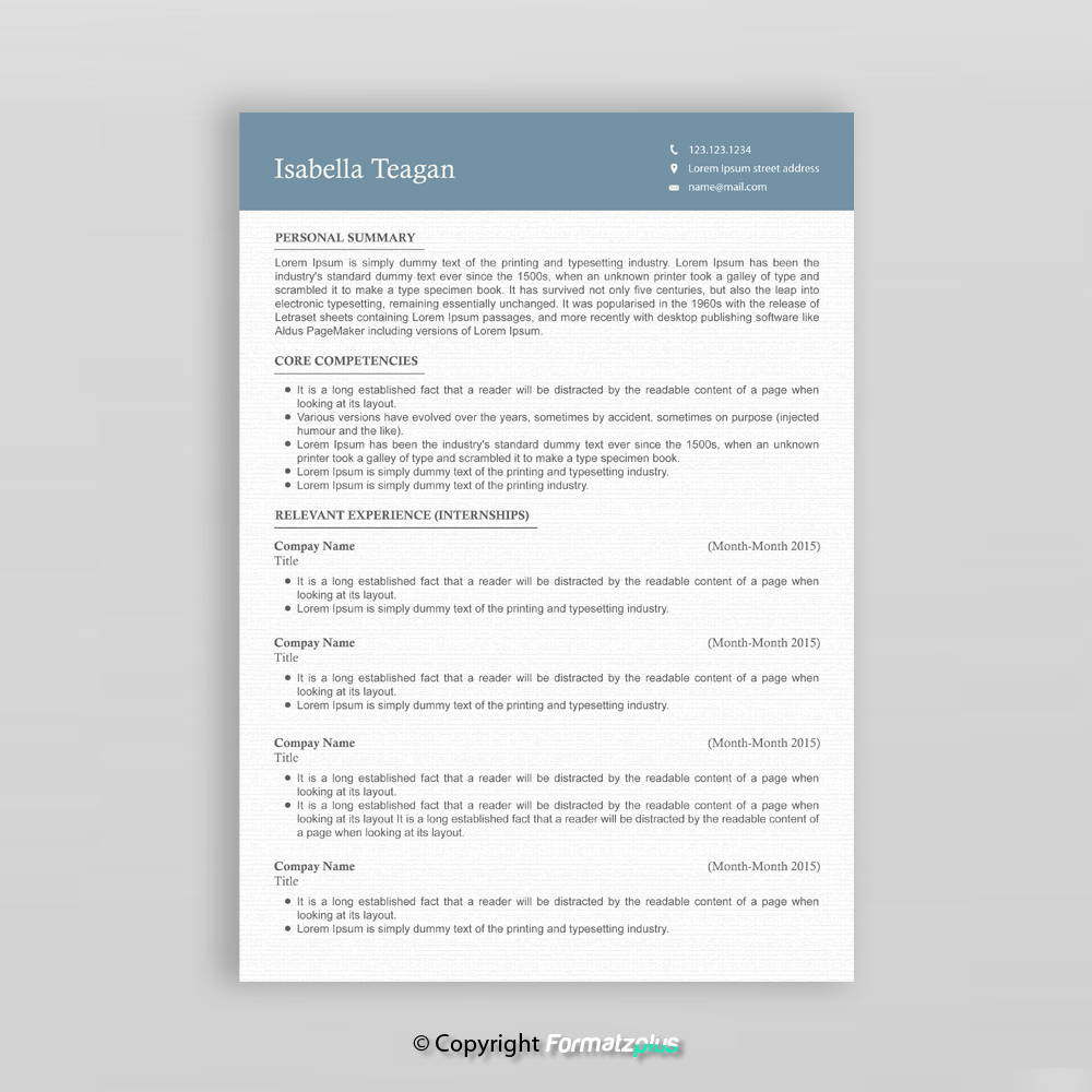 Professionellen Lebenslauf Vorlage 3 Seite Lebenslauf