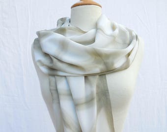 Green silk crepe scarf