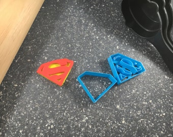 Superman Symbol Layered Fondant Cookie Cutter