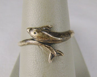 Kabana 925 Sterling Silver Dolphin Ring ~ Size 6 1/2 ( Photo #8)