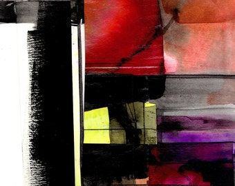 Abstract Stories ... No.6 ... Original colorful mixed media art painting by Kathy Morton Stanion EBSQ