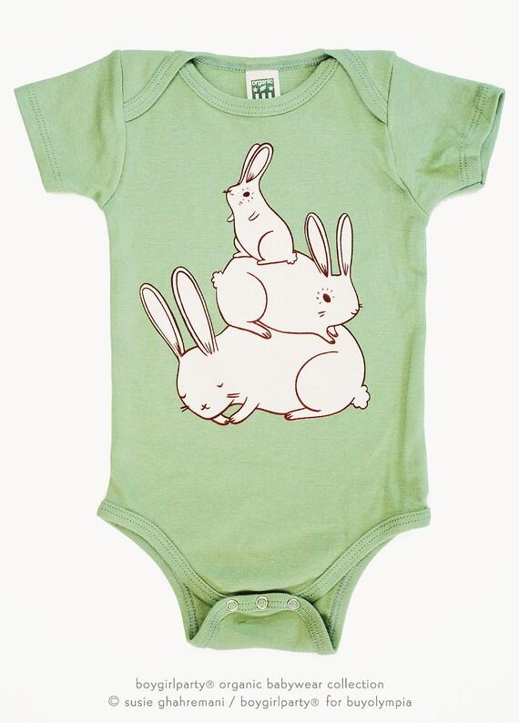 Vegan Baby Clothes Bunny Rabbit Newborn Baby Shower Gift