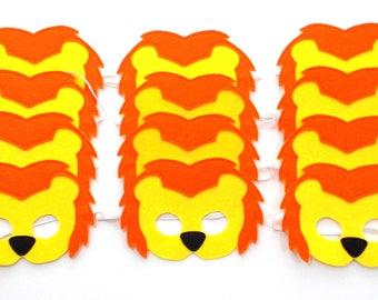 Lion Masks - Party Pack - 12 Masks - Kid's Mask - Lion - Mask - Dress Up - Play - Costume - Party Favor - Dress Up - Halloween