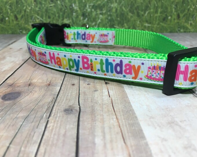 "The Birthday Pup II | Designer 3/4"" Width Dog Collar 