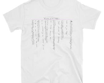 Minutes of the Meeting: Hand Written Tee, Edgy Tee, Music T-Shirt, Grunge Tee, Indie T-Shirt, Hipster T-Shirt, Collection of Thoughts