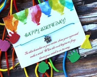 Happy Birthday Wish Bracelet, Birthday Gifts, Birthday Present, Wish Bracelet, Happy Birthday Presents, Birthday Girl, Birthday Boy,Birthday