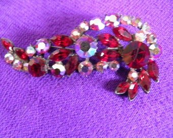 Ruby Red Juliana Brooch.  D&E Pin.