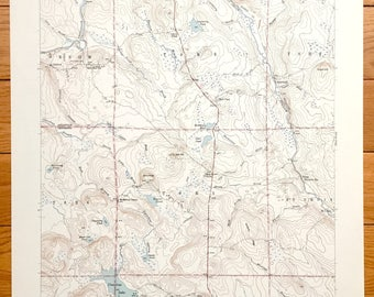Antique Oxbow, Maine 1942 US Geological Survey Topographic Map – Masardis, Griswold, Pride, St. Croix, Umcolcus Lake, Aroostook, Penobscot